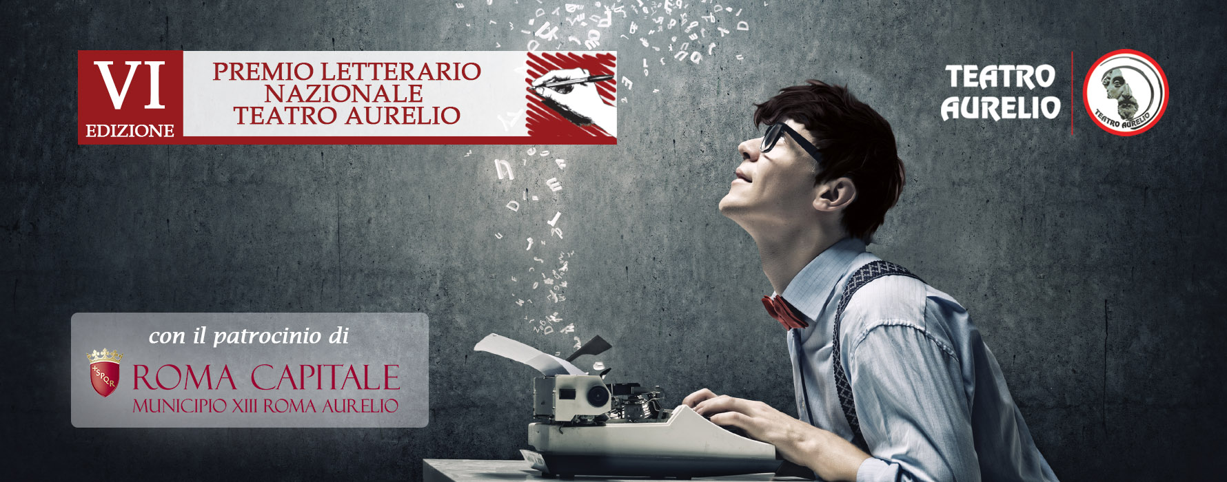 Banner premio letterario - Teatro Aurelio - VI Edizione