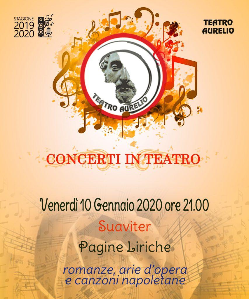 Pagine Liriche - Stagione musica Teatro Aurelio 10 gennaio 2020