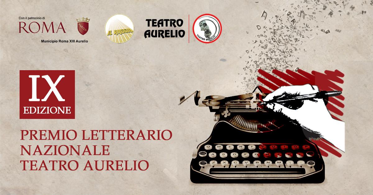 Banner premio letterario nazionale Teatro Aurelio IX edizione anno 2020 - 2021